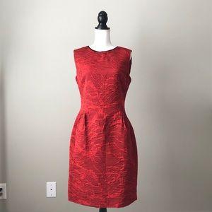 PIAZZA SEMPIONE | Red Textured Sheath Dress